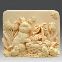 """Форма-элит для мыла """"Кролик с цыплятами"""" 2D"""