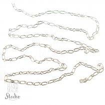 №26 Цепь с плетением  Фигаро, цвет -  серебро