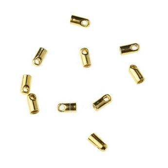 Концевик для шнура, цвет золото, 4*1,8 мм