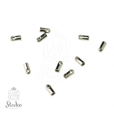 Концевик для шнура, цвет сталь, 4*1,8 мм