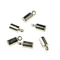 Концевик для шнура, цвет серебро, 9,5*4 мм