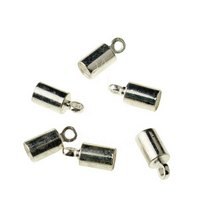 Концевик для шнура, цвет сталь, 9,5*4 мм, 2 шт