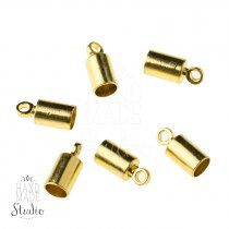 Концевик для шнура, цвет сталь, 9,5*4 мм