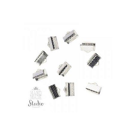 Зажимы для лент 13 мм, цвет - серебро