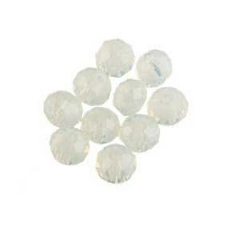 Бусины чешский хрусталь, цвет лунный камень, прозрачный №28