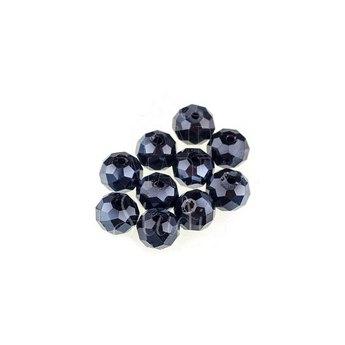 Бусины чешский хрусталь, цвет черный №22