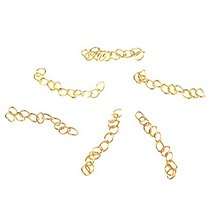 Концевик- цепочка, цвет - золото, 1шт