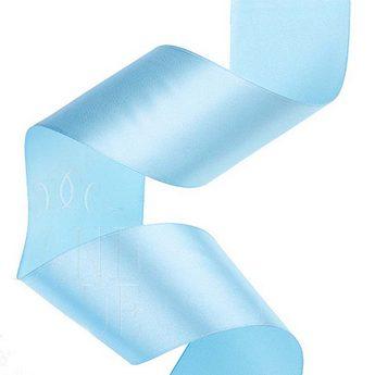 Атласная лента, цвет небесный синий, 50 мм
