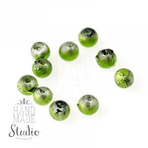 Бусины опаковое стекло, цвет зеленый, 4 мм, №31