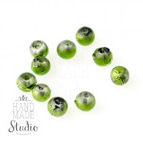 Бусины опаковое стекло, цвет зеленый, 4 мм, №31, 10 шт
