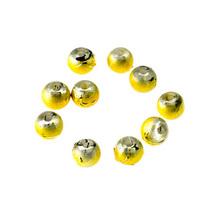 Бусины опаковое стекло, цвет  желтый, 4 мм, №35, 10 шт