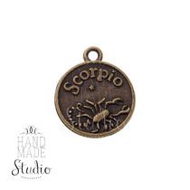 Бронзовая металлическая подвеска Знак зодиака Скорпион