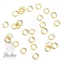 Соединительные кольца усиленные, цвет золото 0,5 см