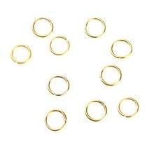 Соединительные кольца усиленные, цвет золото 0,7 см, 2 грамма
