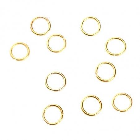 Соединительные кольца, цвет золото 0,7 см