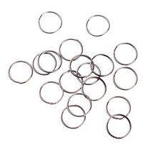 Соединительные кольца из черненого металла 1 см
