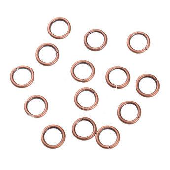 Соединительные кольца, цвет  медь 0,7 мм
