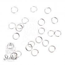 Соединительные кольца, цвет  серебро 0,5 мм