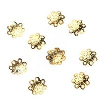 №5 Обниматели для бусин, цвет - золото, 10 шт