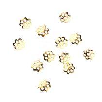 №3 Обниматели для бусин маленькие, цвет - золото, 20 шт