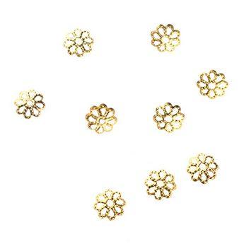 №26 Обниматели для бусин ажурные, цвет - золото