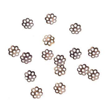 №4  Обниматели для бусин маленькие, цвет - бронза,