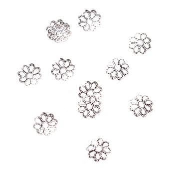 №29 Обниматели для бусин ажурные, цвет - серебро