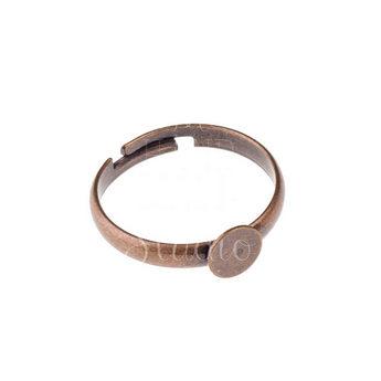 Основа для кольца с платформой 0,6 см, цвет - медь