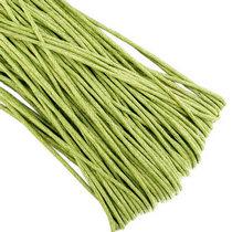 Вощеная нить, цвет зеленый, 3 мм