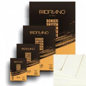 Склейка для эскизов Schizzi Sketch А5, 90г/м2, 60л., Fabriano