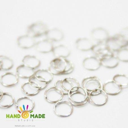 Соединительные кольца, цвет  сталь 0,8 см