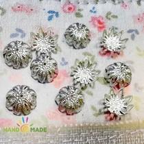 №15 Обниматели для бусин большие, цвет - серебро