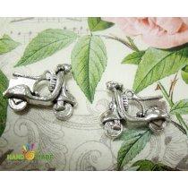 Серебряная металлическая подвеска Мопед
