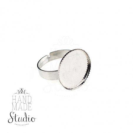 Основа для кольца с платформой 1,8 см, цвет - сталь