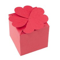 Коробочка для упаковки подарка, цвет персиковый