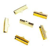 Зажимы для лент 20 мм, цвет - золото, 10шт