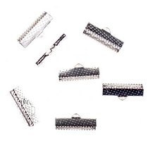 Зажимы для лент 20 мм, цвет - серебро, 10шт