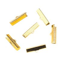 Зажимы для лент 25 мм, цвет - золото