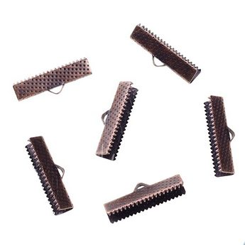 Зажимы для лент 25 мм, цвет - медь