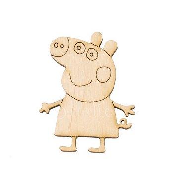 Деревянная заготовка Свинка Пеппа