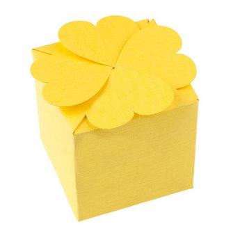 Бонбоньерка, цвет желтый