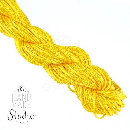 Нить бижутерная, цвет желтый
