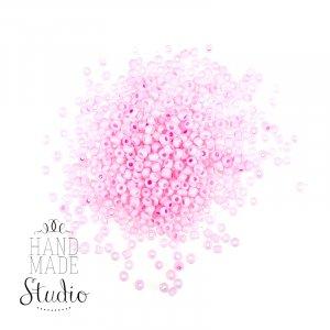 №49 Бисер китайский, цвет - бледно- розовый