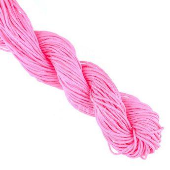 Нить бижутерная, цвет  ярко-розовый