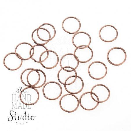 Соединительные кольца, цвет  медь 0,9 мм
