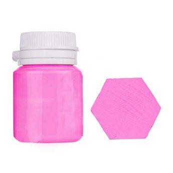 Акриловая латексная краска, 20 мл №22 цвет розовый фламинго