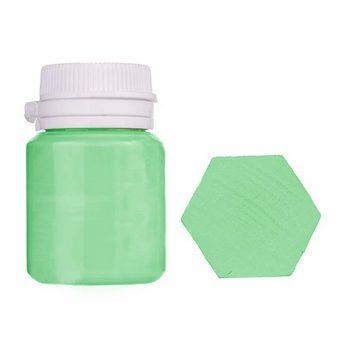 Акриловая латексная краска, 20 мл №23 цвет зеленое яблоко