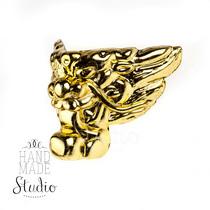 Ножка пластиковая С-009, цвет золото, 2,5х2,5 см