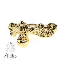 Ножка металлическая С-001, цвет золото, 2х2 см