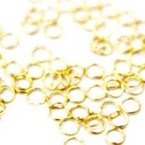 Соединительные кольца, цвет золото 0,8 см